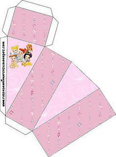 Princesas Bebés Disney: cajas para imprimir gratis.