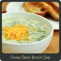 soups, clean eat, food yummi, cheesy broccoli soup, favorit recip, perfect soup, recipecreami cheesi, cheesi broccoli