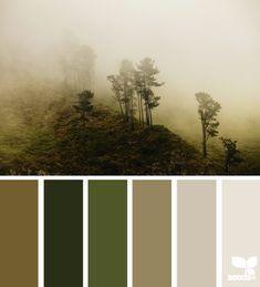 misty palette - cozy bedroom colours