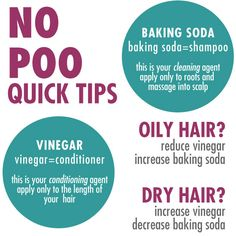 No Poo Quick Tips...no Poo means No SHAMPOO. This seems to make sense to me.  May try it.