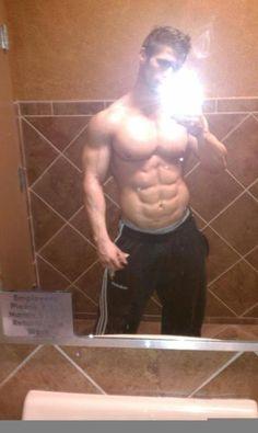 Steve Moriarty /locker room-mirror-iphone-man