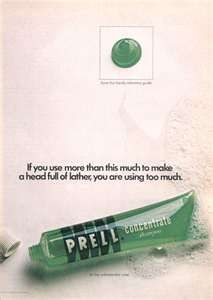 Prell shampoo - I hated the smell for some reason.