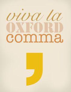 Oxford comma.