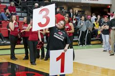 This young lady won the Sneaker Shuffle contest at #TeamUCM night on Jan. 23, 2013