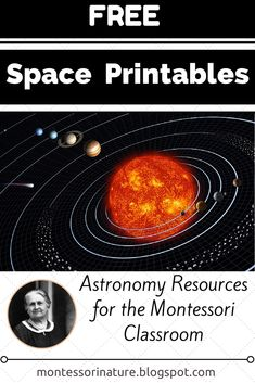 Montessori Nature: Free Space Printables || Astronomy Resources for the Montessori Classroom. KLP Linky Party.
