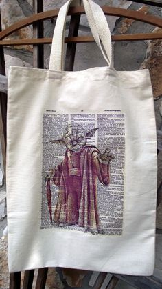 Yoda  The Jedi Master art print tote bag by collectedmess on Etsy, $10.00