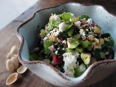 Quinoa with Red Lentils, Swiss Chard, Feta, Mint & Pistachios by you can count on me, via Flickr
