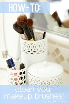 How To Properly Clean Your Makeup Brushes! Cleaning your brushes is essential for maintaining their quality, but more importantly, it keeps them sanitized (which prevents bacteria and oil from spreading around your face). Such a useful pin!