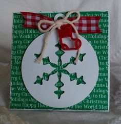 Christmas Cards Handmade Greeting Cards Green by CardinalBoutique, $2.50