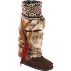 MUK LUKS Women's Lola Tall Faux-Fur Boots with Knit Cuffs