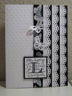 butterfli, border punch, paper lace, black white, anniversary scrapbook