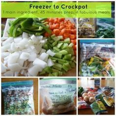Freezer To Crockpot Cooking | Chicken Shopping List