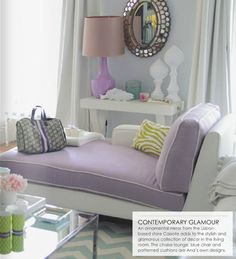 Pastel via Adore Home interior design, color palett, pastels, living rooms, chaise lounges, color schemes, pastel colors, live room, gray wall
