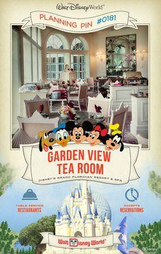 Walt Disney World Planning Pins: Garden View Tea Room