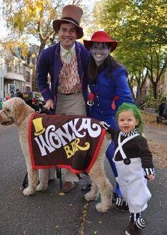 Willy Wonka family Halloween costume theme