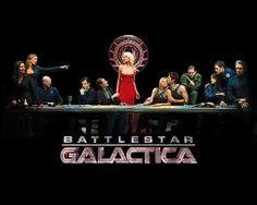 """Battlestar Galactica (also called BSG or Battlestar) is an American military science fiction television series, and part of the Battlestar Galactica franchise. The show was developed by Ronald D. Moore as a re-imagining of the 1978 Battlestar Galactica television series created by Glen A. Larson. The series first aired as a three-hour miniseries (comprising four broadcast hours) in December 2003 on the Sci-Fi Channel, and ran for four seasons thereafter, ending its run on March 20, 2009. The series featured Edward James Olmos and Mary McDonnell, and garnered a wide range of critical acclaim, including a Peabody Award and the Television Critics Association's Program of the Year Award, as well as Emmy nominations for its writing and directing.  The story arc of Battlestar Galactica is set in a distant star system, where a civilization of humans live on a series of planets known as the Twelve Colonies. In the past, the Colonies had been at war with a cybernetic race of their own creation, known as the Cylons. With the unwitting help of a human named Gaius Baltar, the Cylons launch a sudden sneak attack on the Colonies, laying waste to the planets and devastating their populations. Out of a population numbering in the billions, only approximately 50,000 humans survive, most of whom were aboard civilian ships that avoided destruction. Of all the Colonial Fleet, the eponymous Battlestar Galactica appears to be the only military capital ship that survived the attack. Under the leadership of Colonial Fleet officer Commander William """"Bill"""" Adama (Olmos) and President Laura Roslin (McDonnell), the Galactica and its crew take up the task of leading the small fugitive fleet of survivors into space in search of a fabled refuge known as Earth.  It spawned the spin off TV series Caprica, which aired for one season beginning in January 2010. A second spin-off series, Battlestar Galactica: Blood & Chrome, is in production."""