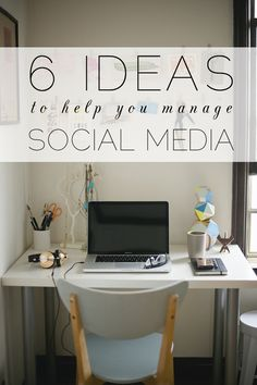 6 ideas to help you manage your blog's social media. #blogging #social #media #tools #apps