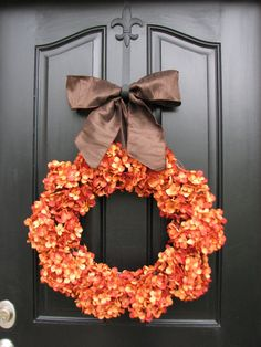 Thanksgiving Wreath Fall Decor Front Door Wreaths by twoinspireyou, $115.00