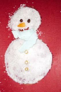 Salt Snowman art