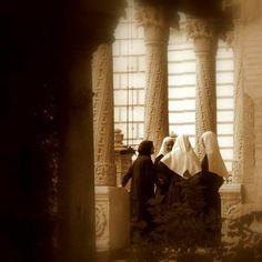 Catholic and Orthodox nuns socializing in Bucarest
