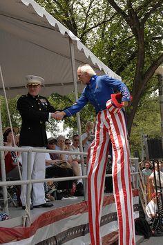 Uncle Sam on Stilts