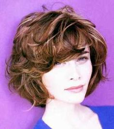short curly hair style