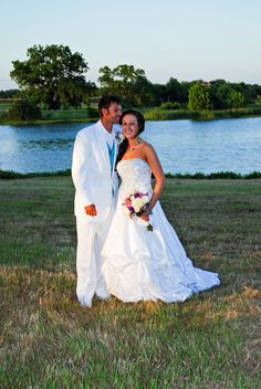 Lake Durant - beautiful backdrop for outdoor wedding.
