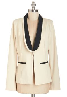 Take Charge Charm Jacket. Youve risen to a leading role with your smarts, style, and always-present smile. #cream #modcloth