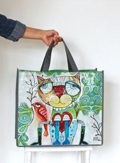 Allen Designs Cat/Bird Shopper Bag
