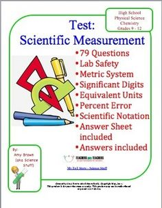 On scientific measurement topics covered on this test are lab safety