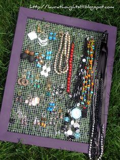 another cute jewerly display project...loveit! @Katie Coon