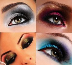 Colorful smokey eyes