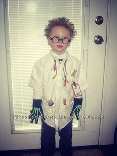 Cool Mad Scientist Costume for a Boy... This website is the Pinterest of costumes