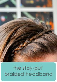 A bunch of fun hair tutorials, including this cute stay put headband.