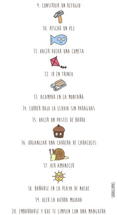 El Blog de Sarai Llamas: 30 cosas que los niños deberían experimentar antes de cumplir los 6 años