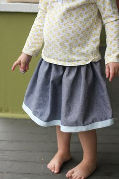 Lazy Days Skirt in chambray by supergail, via Flickr