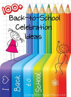 LOTS and LOTS of great back-to-school ideas, including 100+ celebration ideas and free printables for first day of school photos