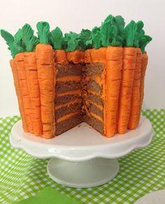carrot cakes, tutorials, cake tutorial, easter, carrot cakelet, cake recip, oranges, carrots, lets go