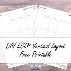 3 Years Apart DIY Erin Condren Life Planner Inspired Vertical Layout Weekly Inserts