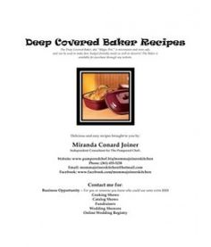 Deep Covered Baker Recipes