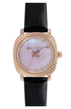 Ted Baker London 'Mini Jewels' Crystal Index Patent Leather Strap Watch, 26mm   Nordstrom