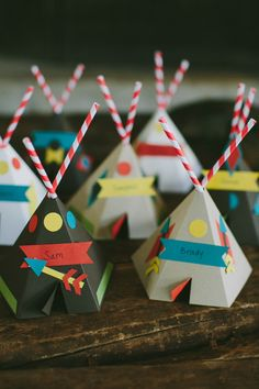 camp themed escort cards, Photo by Amber Vickery Photography http://ruffledblog.com/texas-wedding-with-new-orleans-flair #weddingideas #escortcards #seatingchart