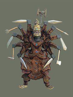 Burmese Marionette - 10 Hands