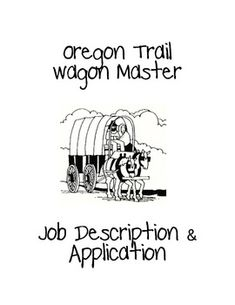 This activity coincides with the Oregon Trail simulation activity. I use this as a way my students can