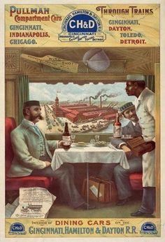 Vintage 1890's American Pullman Railways Railroad Travel