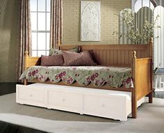 Casey Ii Wood Daybed With Ball Finials Honey Maple Finish Twin