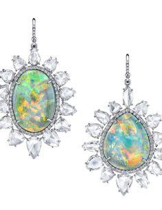 Irene Neuwirth Opal and Diamond earrings.