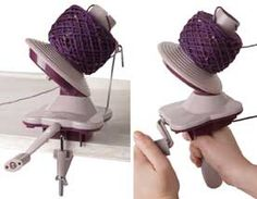 Knitting Yarn Ball Winder from KnitPicks. $20 and it works great!!