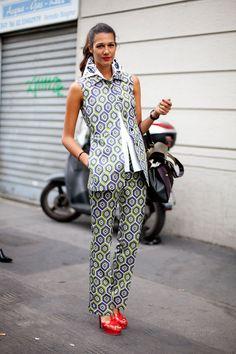 Street Style Spring 2013: Milan Fashion Week Prada's Fall runway takes to the streets.