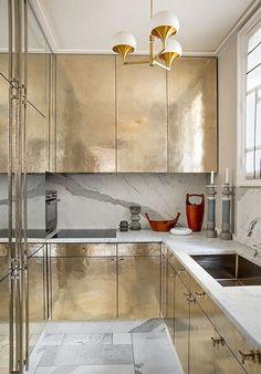 French Metallic Kitchen | Remodelista